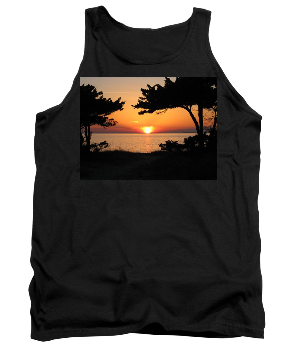 Ocracoke Tank Top featuring the photograph Ocracoke Island Winter Sunset by Wayne Potrafka