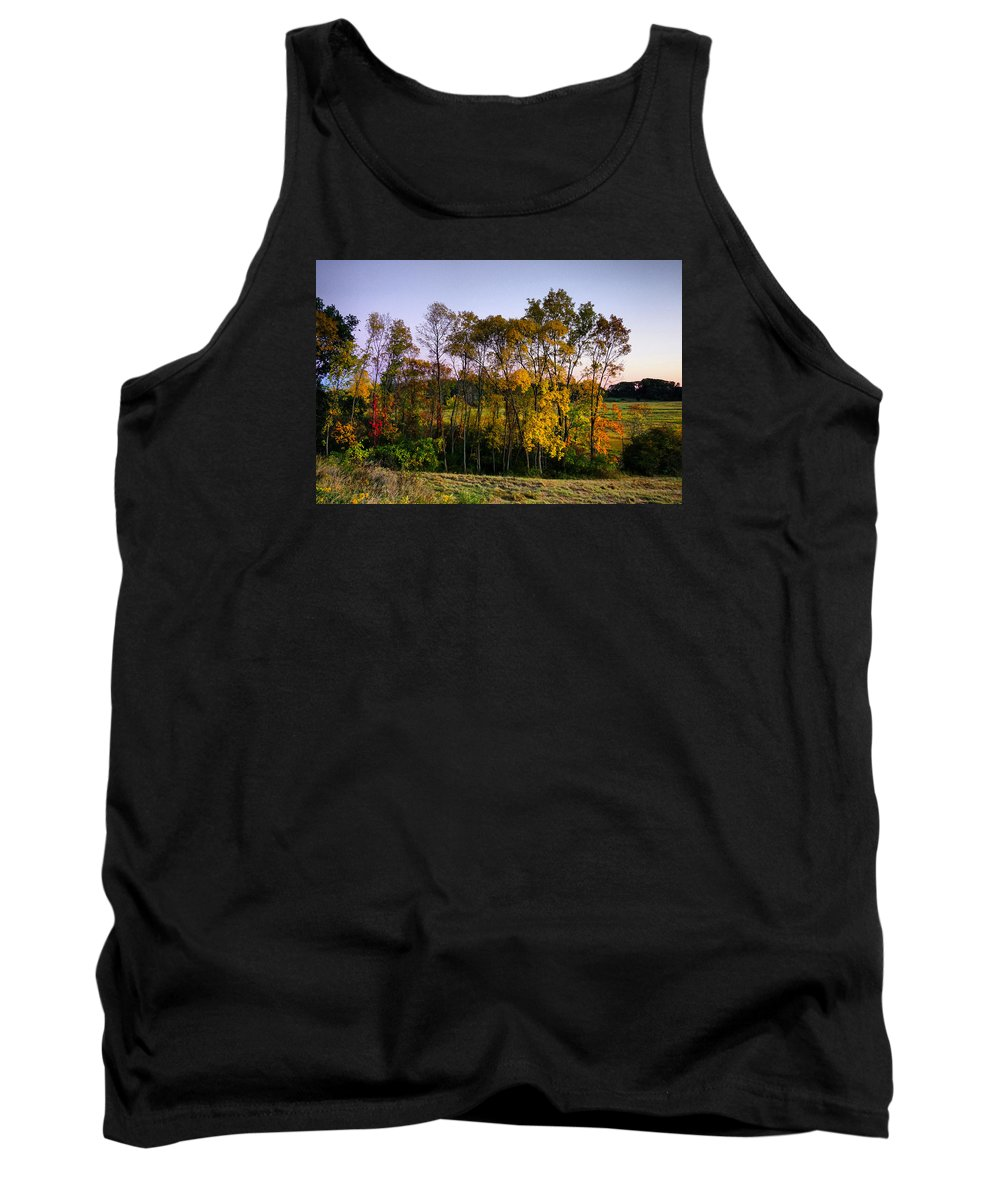 October Tank Top featuring the photograph October Higlights by Lilia D
