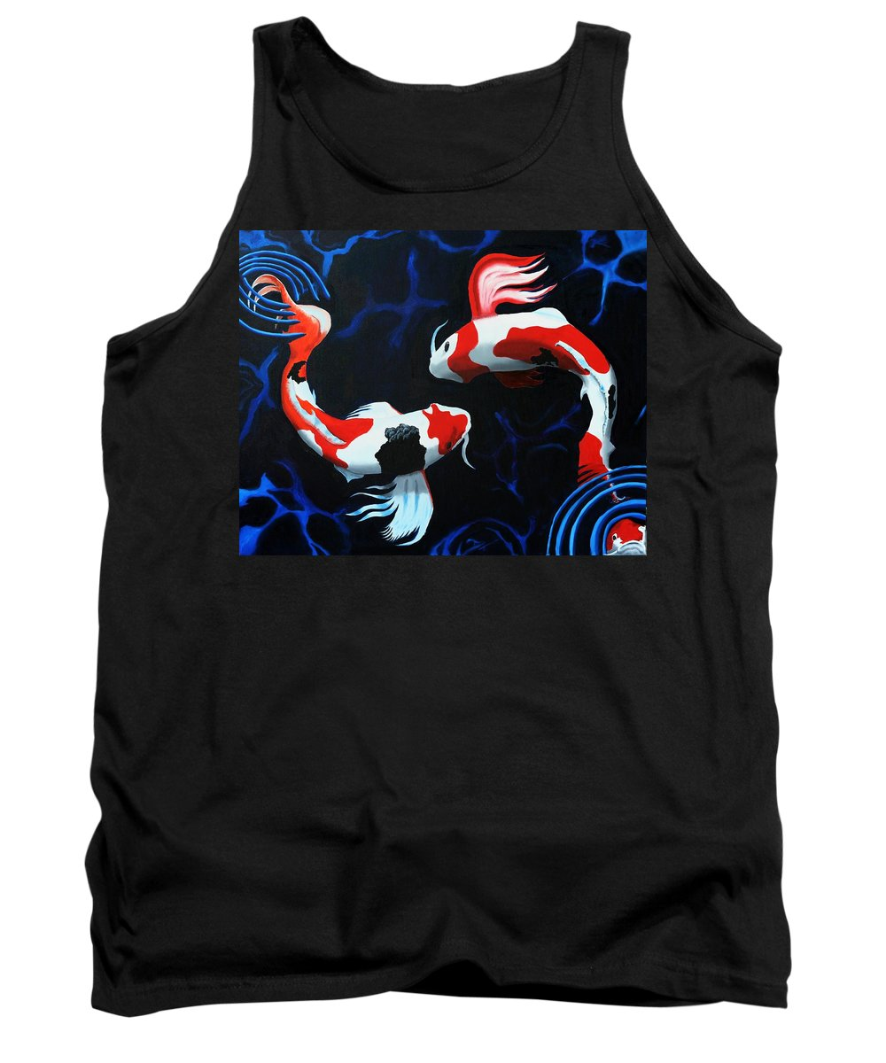 Koi Tank Top featuring the painting Odori by D Turner
