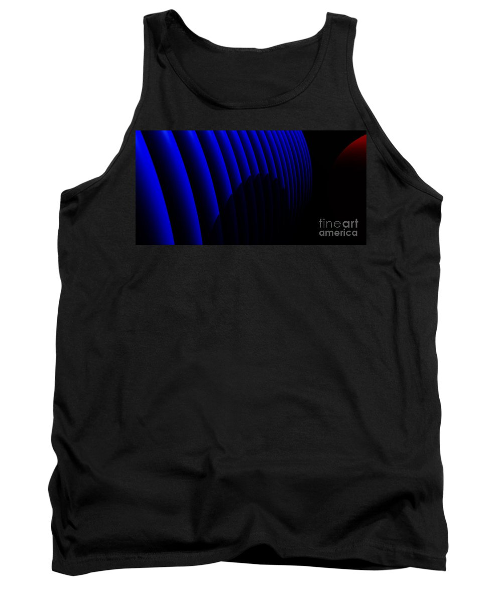 Abstract Tank Top featuring the digital art Odyssey by Richard Rizzo