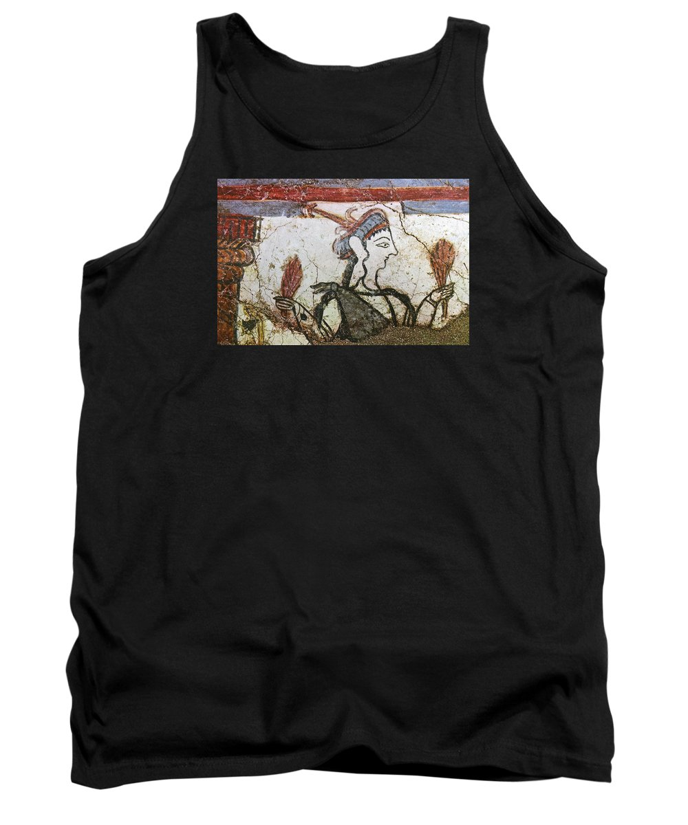 Mycenaean Fresco Tank Top featuring the photograph Offering Wheat by Andonis Katanos