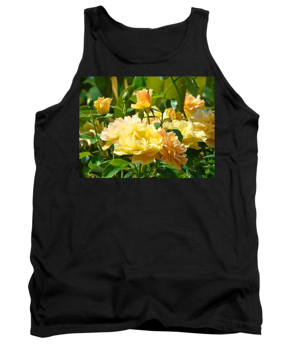 Rose Tank Top featuring the photograph Office Art Rose Garden Giclee Prints Roses Baslee Troutman by Baslee Troutman