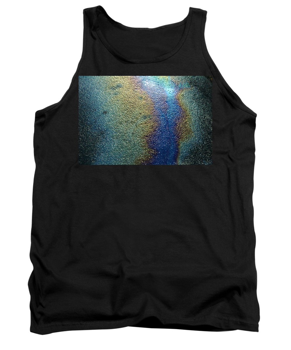 Oil Tank Top featuring the photograph Oil Slick by Trish Hale