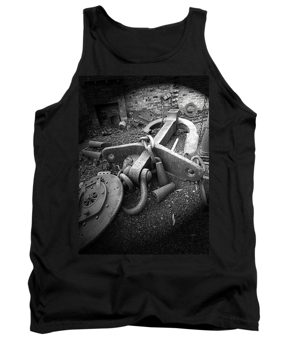 Cast Iron Tank Top featuring the photograph Old Anchor by Bob Kemp