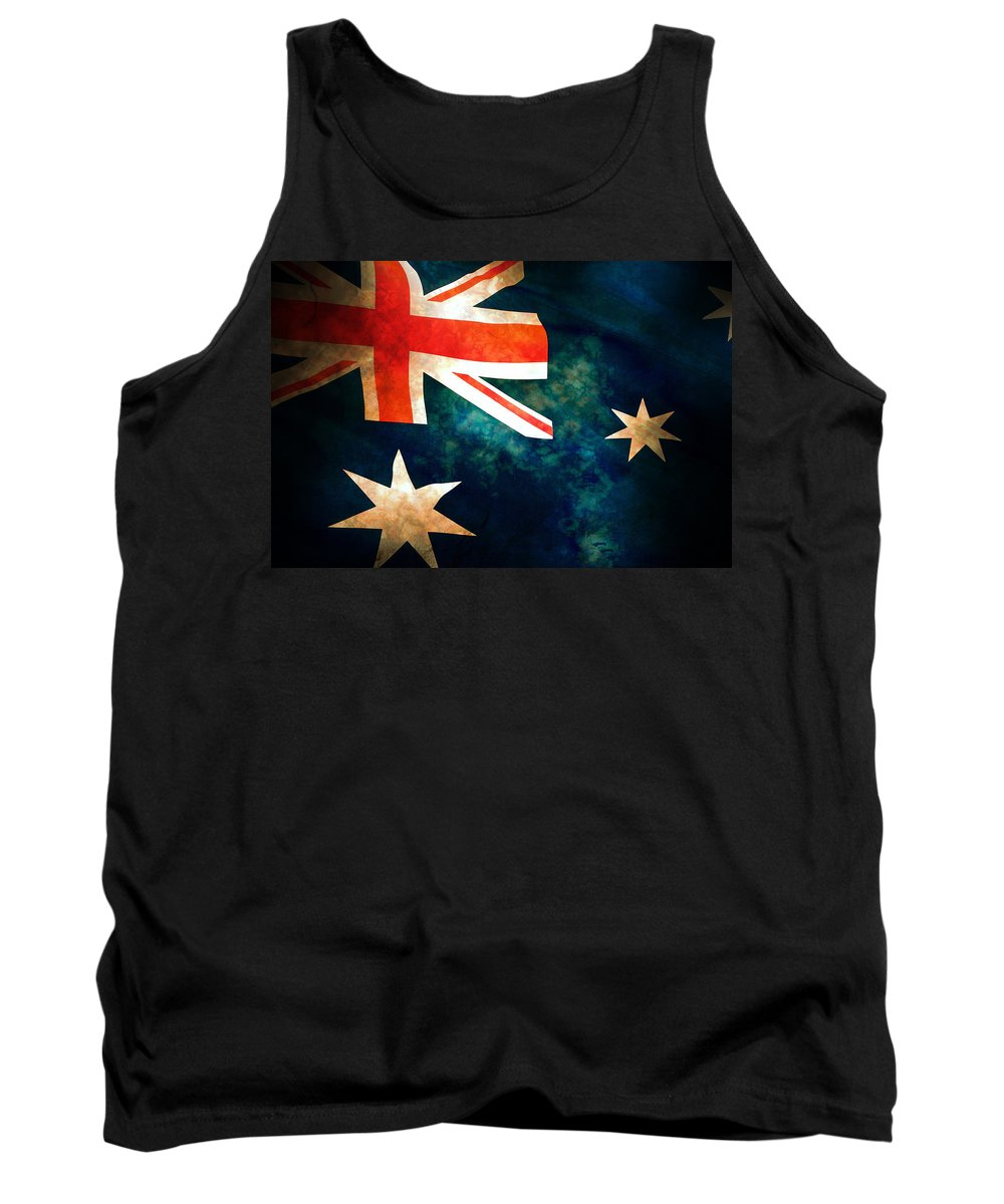 Australia Tank Top featuring the photograph Old Australian Flag by Phill Petrovic