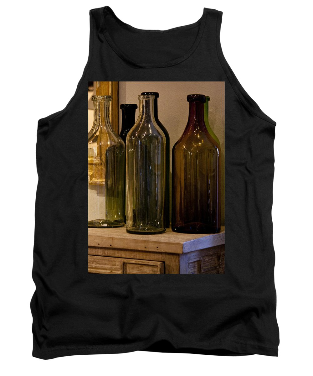 Bottles Tank Top featuring the photograph Old Bottles by Donna Walsh