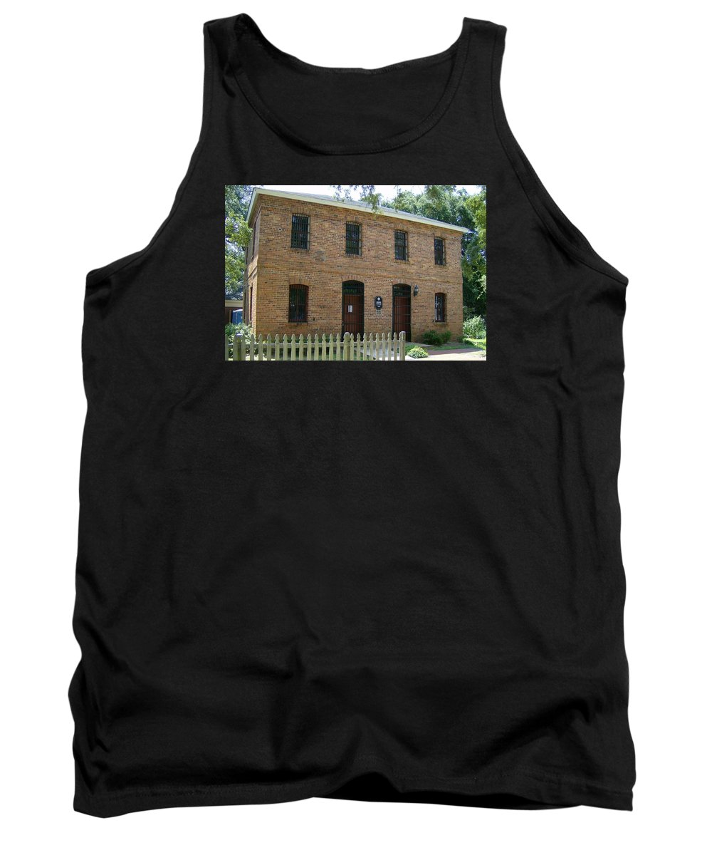 Historic Preservation Tank Top featuring the photograph Old Brunswick County Jail by Robin Keith McCown