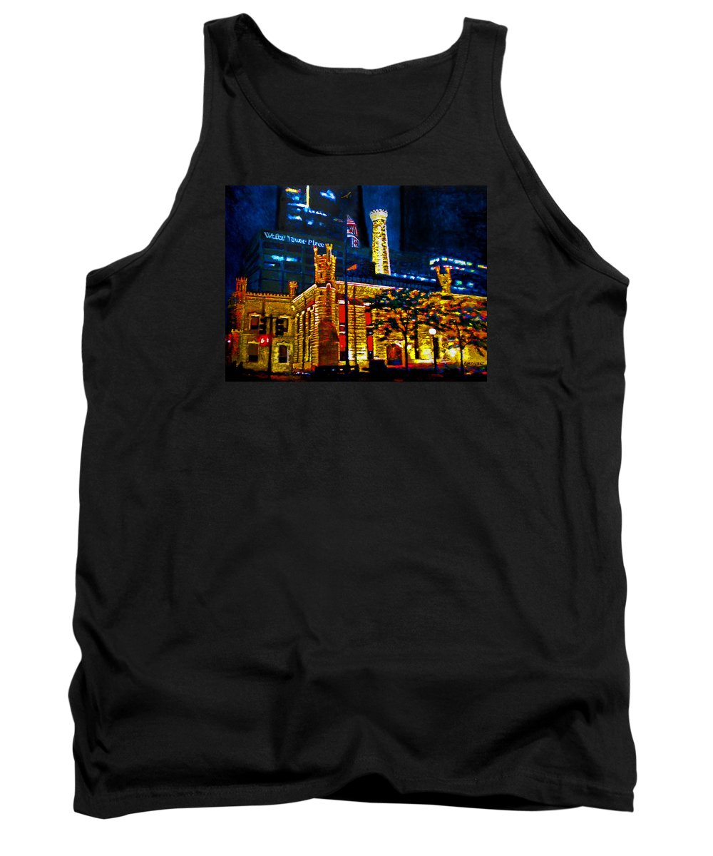 Chicago Tank Top featuring the painting Old Chicago Pumping Station by Michael Durst