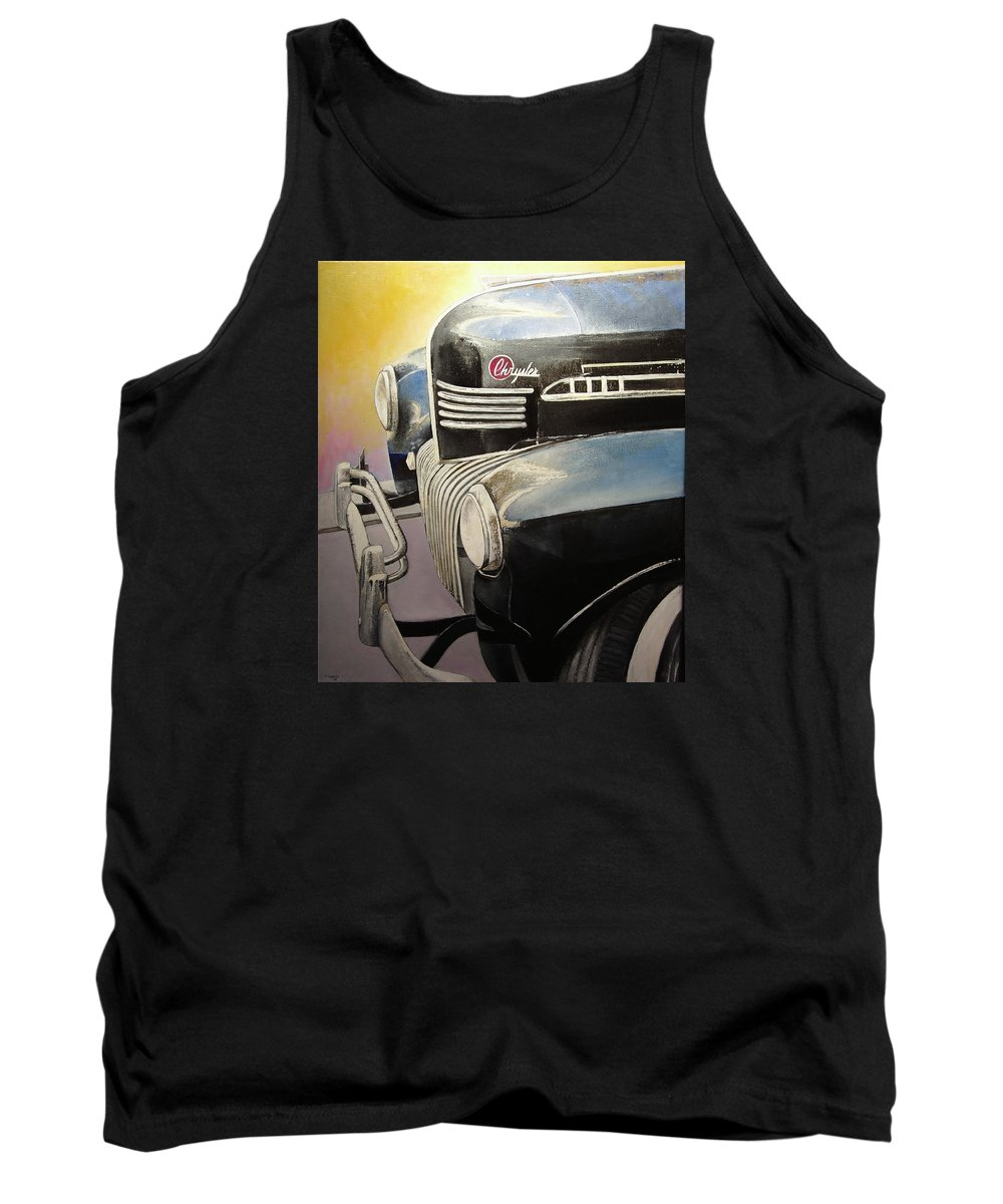 Old Tank Top featuring the painting Old Chrysler by Tomas Castano