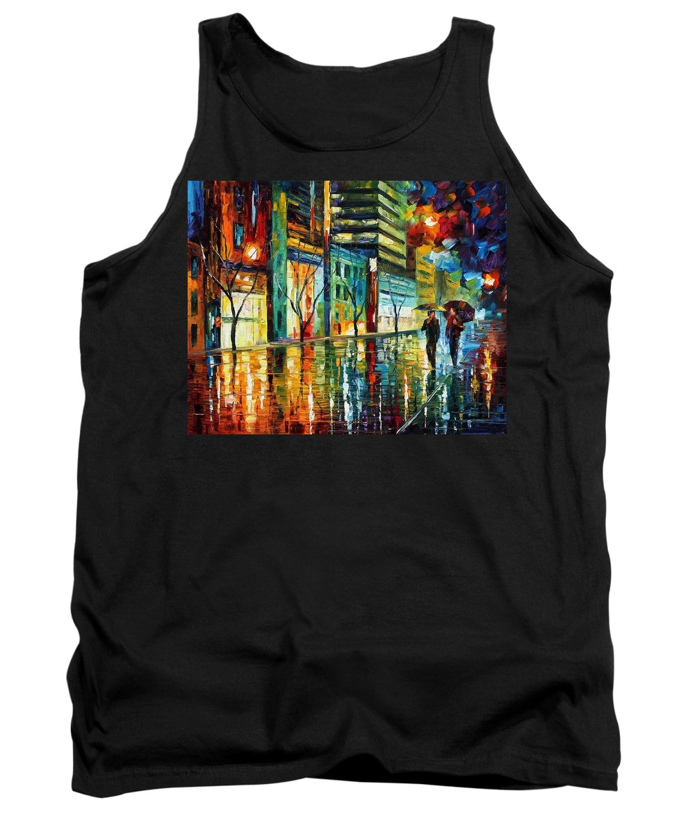 Afremov Tank Top featuring the painting Old City by Leonid Afremov