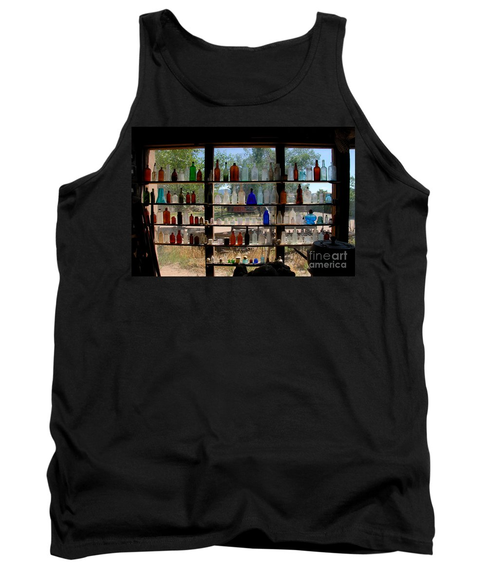 Glass Tank Top featuring the photograph Old Glass by David Lee Thompson