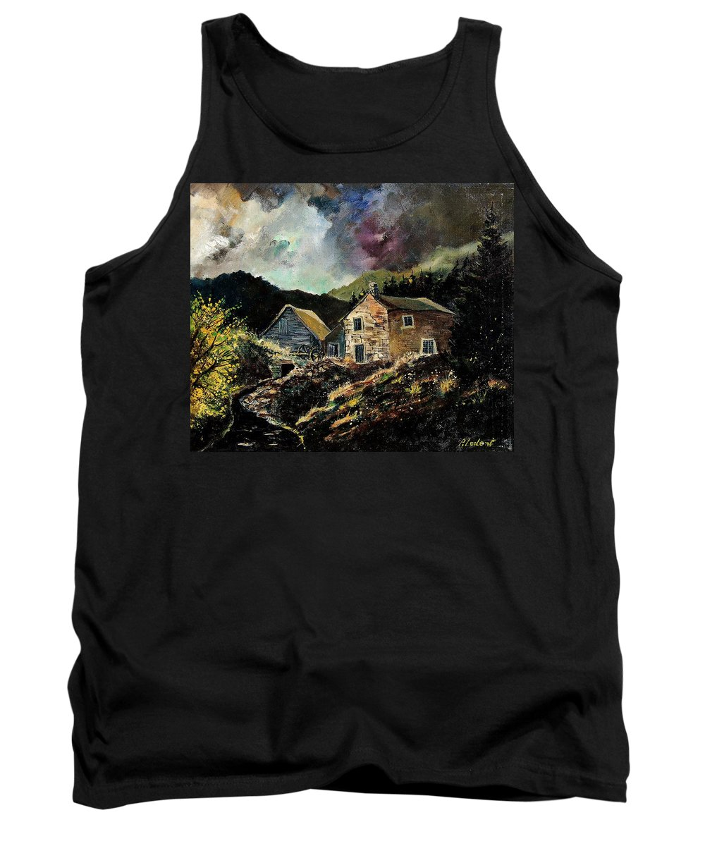 Tree Tank Top featuring the painting Old Houses 5648 by Pol Ledent