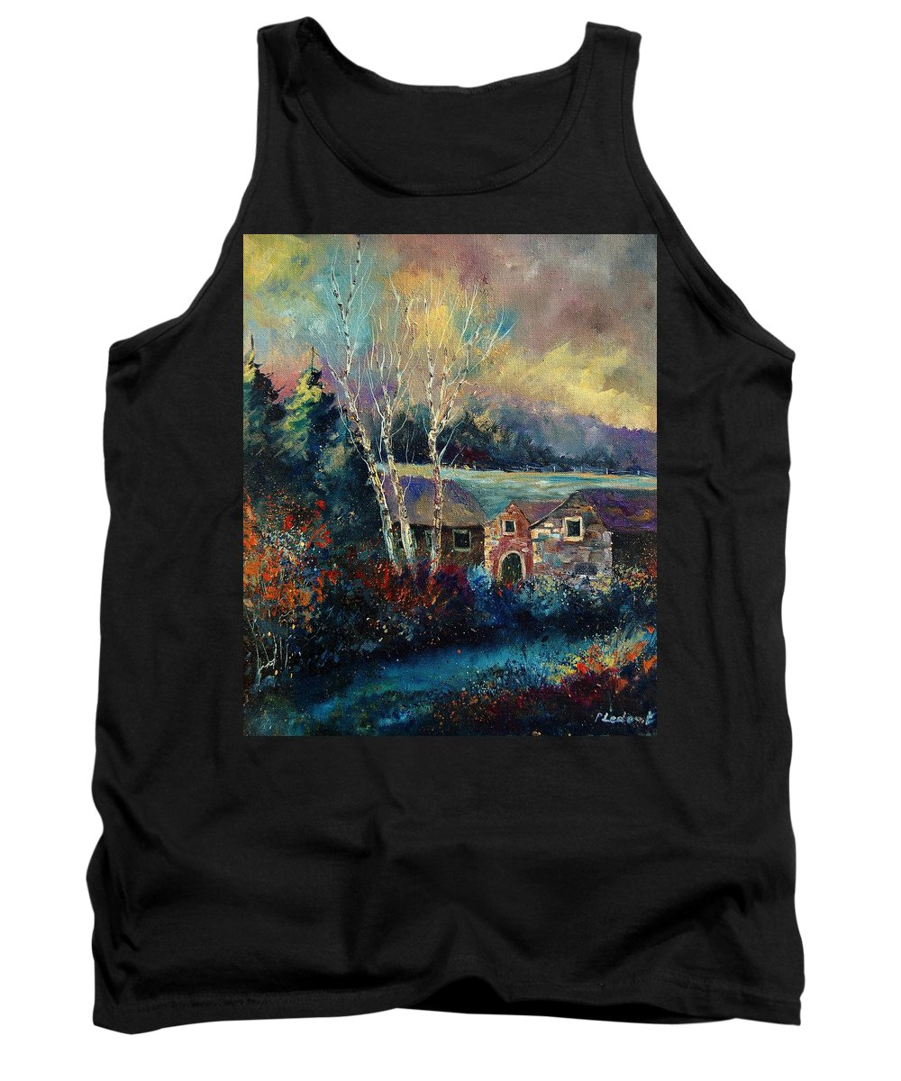 Village Tank Top featuring the painting Old Houses In Hour by Pol Ledent
