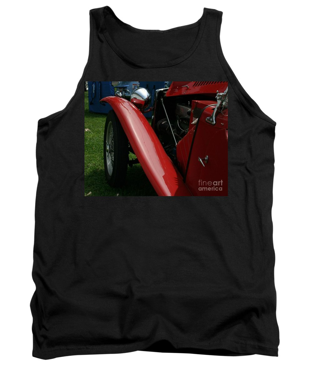 Mg Tank Top featuring the photograph Old Mg by Dawn Downour