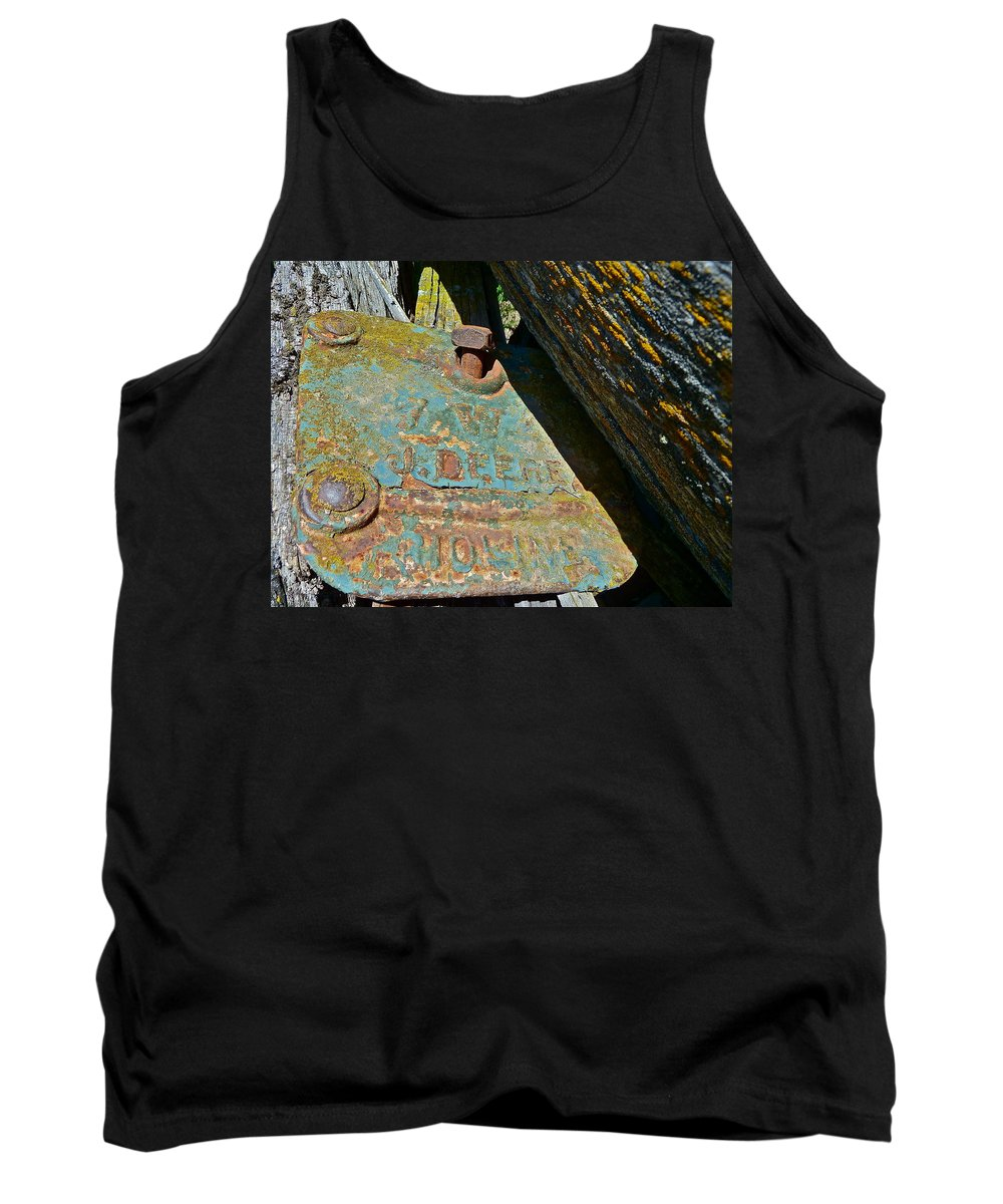 Antique Tank Top featuring the photograph Old Name Plate by Diana Hatcher