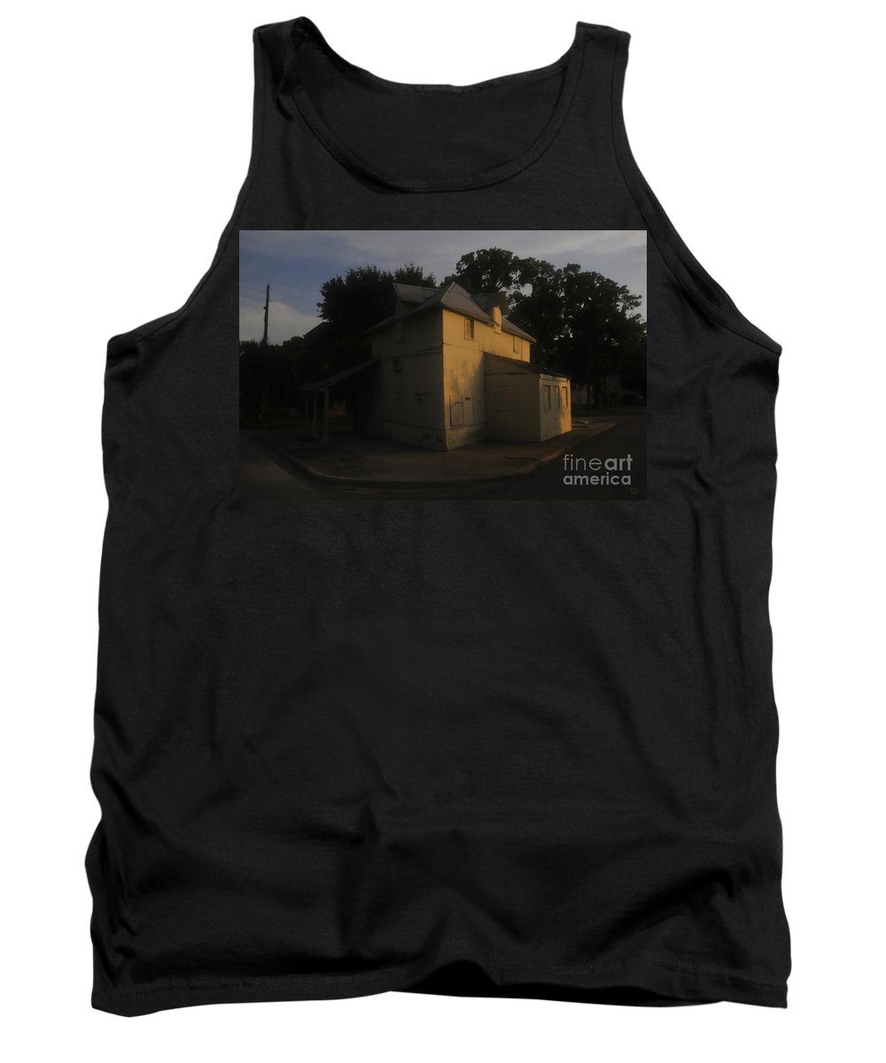 Port Tampa Florida Tank Top featuring the painting Old Port Tampa by David Lee Thompson