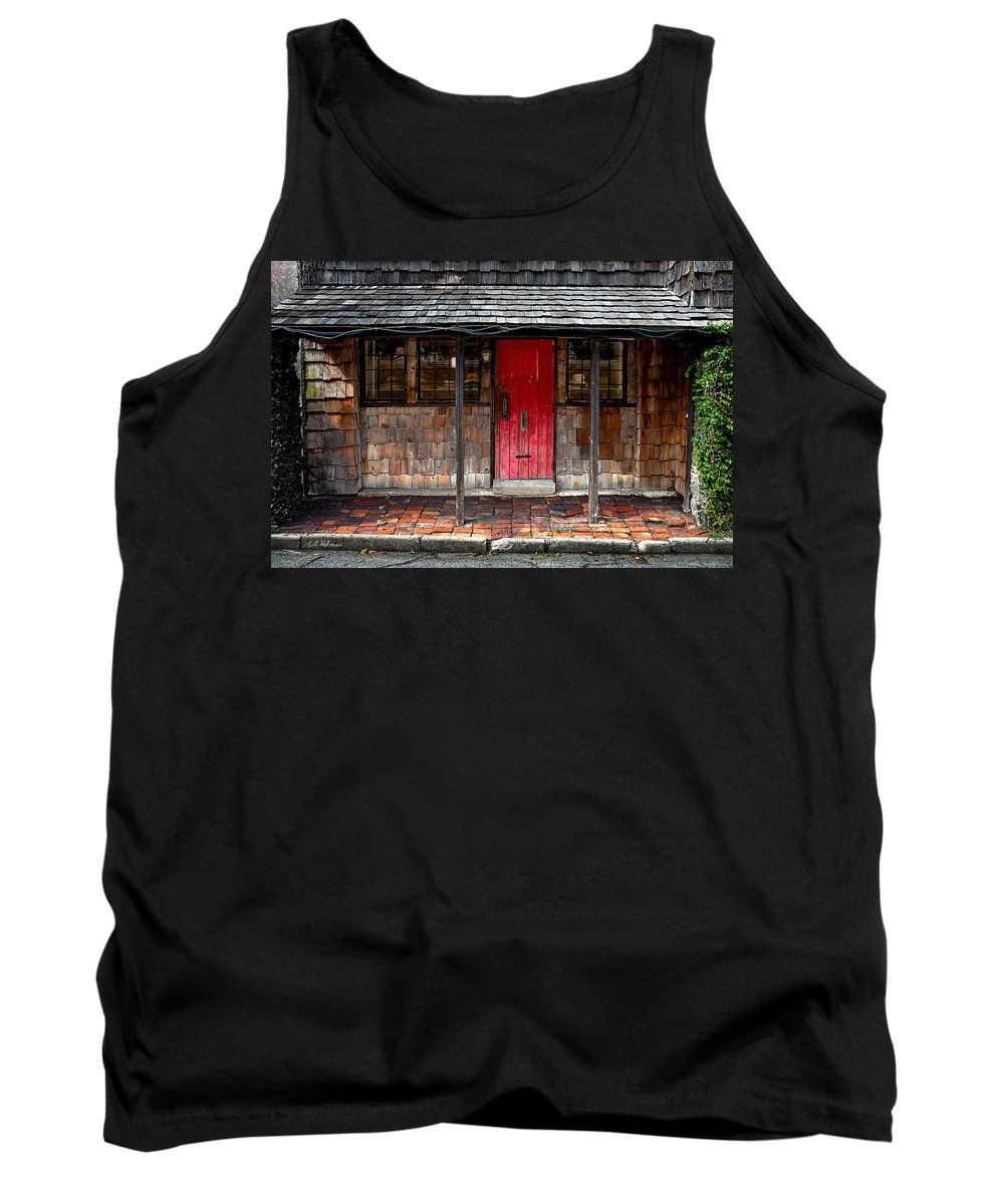 Door Tank Top featuring the photograph Old Red Door by Christopher Holmes