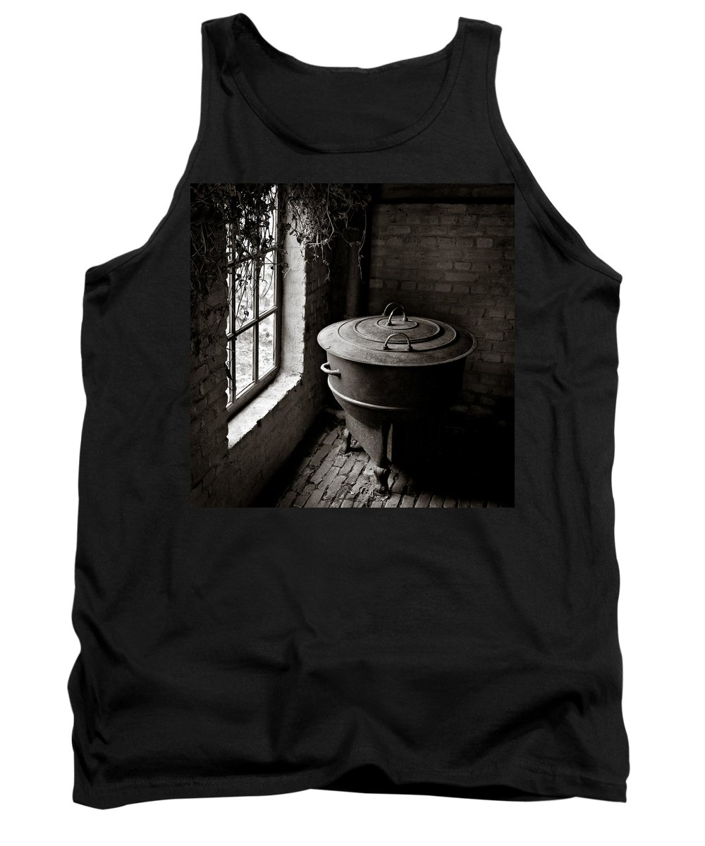 Old Tank Top featuring the photograph Old Stove by Dave Bowman