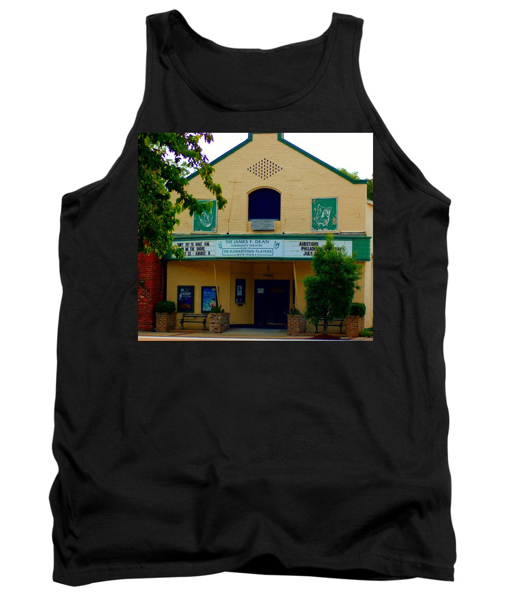Theater Tank Top featuring the photograph Old Town Theater by Donna Bentley