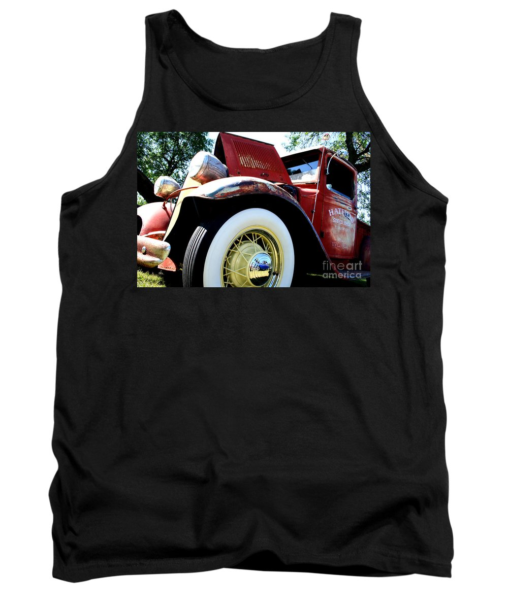 Fish Day Car Show 2010 Tank Top featuring the photograph Old Truck by Jamie Lynn