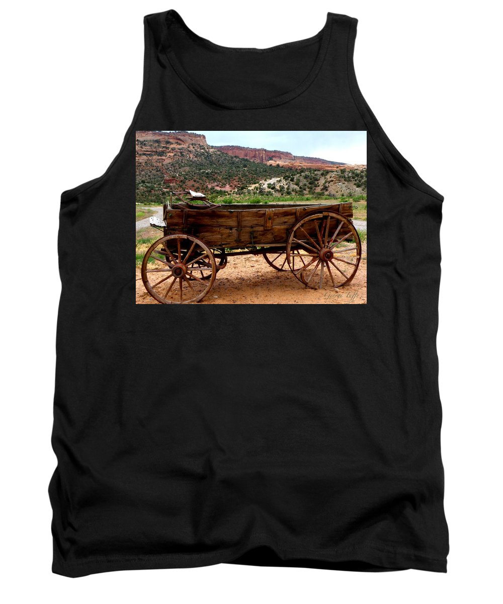 Old Wagon Tank Top featuring the photograph Old Wagon by George Tuffy