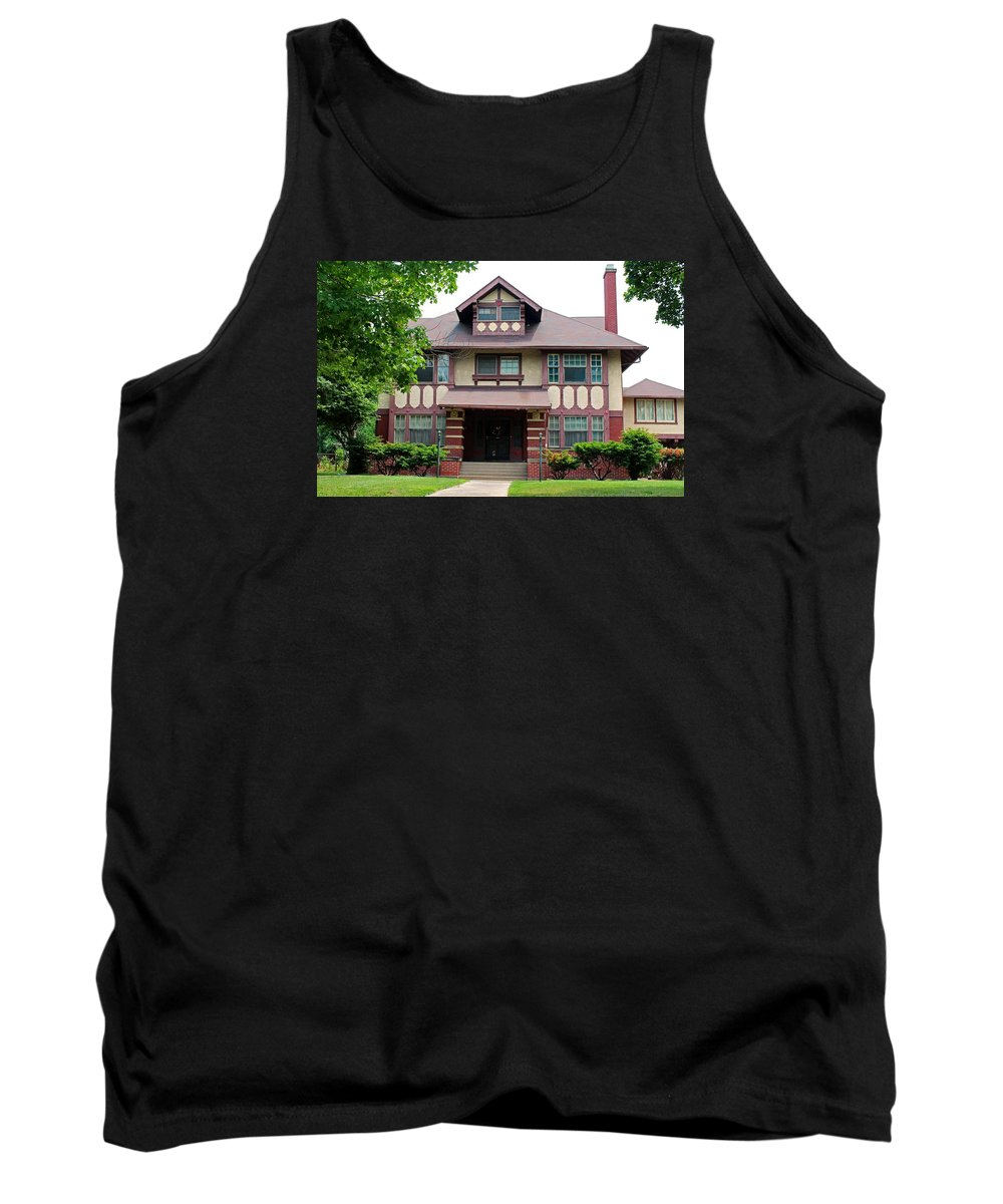 Old West End Tank Top featuring the photograph Old West End Purple 5 by Michiale Schneider