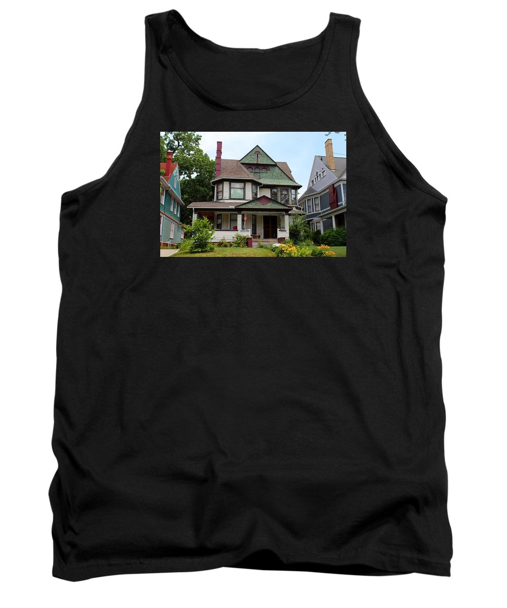 Old West End Tank Top featuring the photograph Old West End White 3 by Michiale Schneider