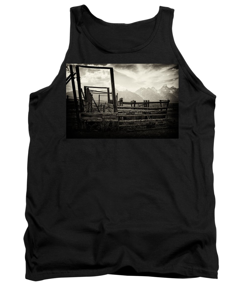 Cattle Tank Top featuring the photograph Old West Relics by Hugh Smith