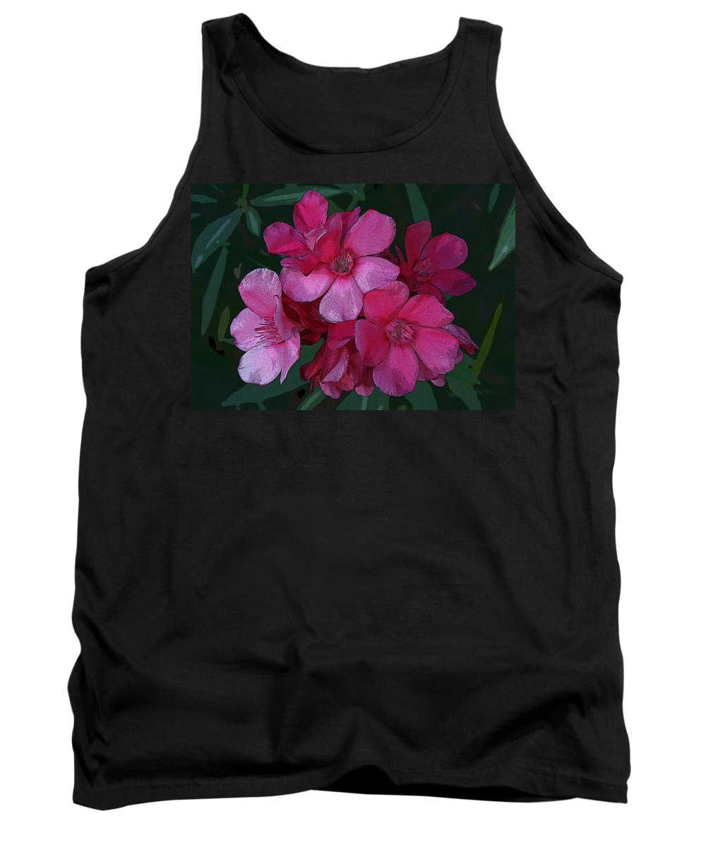 Digital Tank Top featuring the photograph Oleanders In Pink by Marna Edwards Flavell