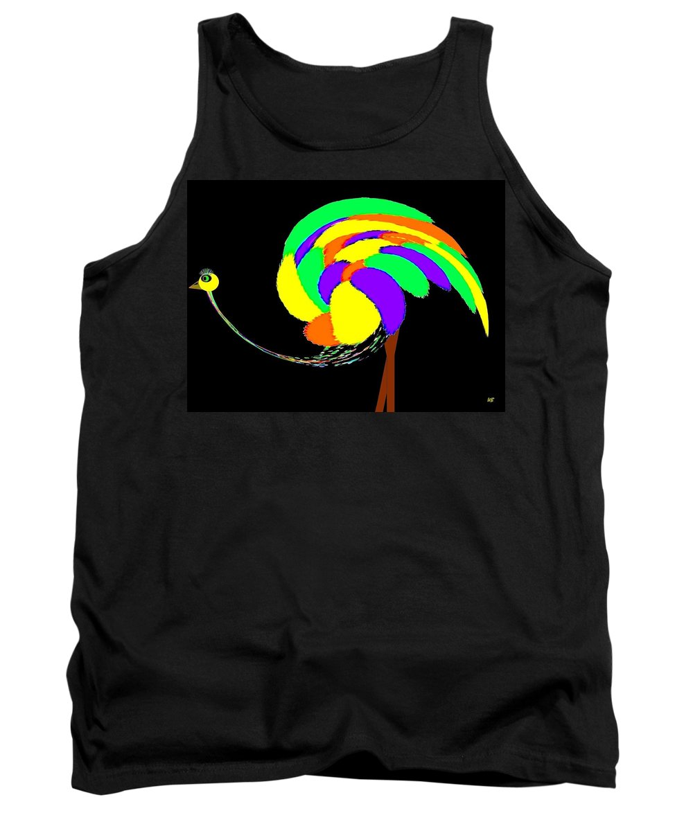 Abstract Tank Top featuring the digital art Olive The Ostrich by Will Borden