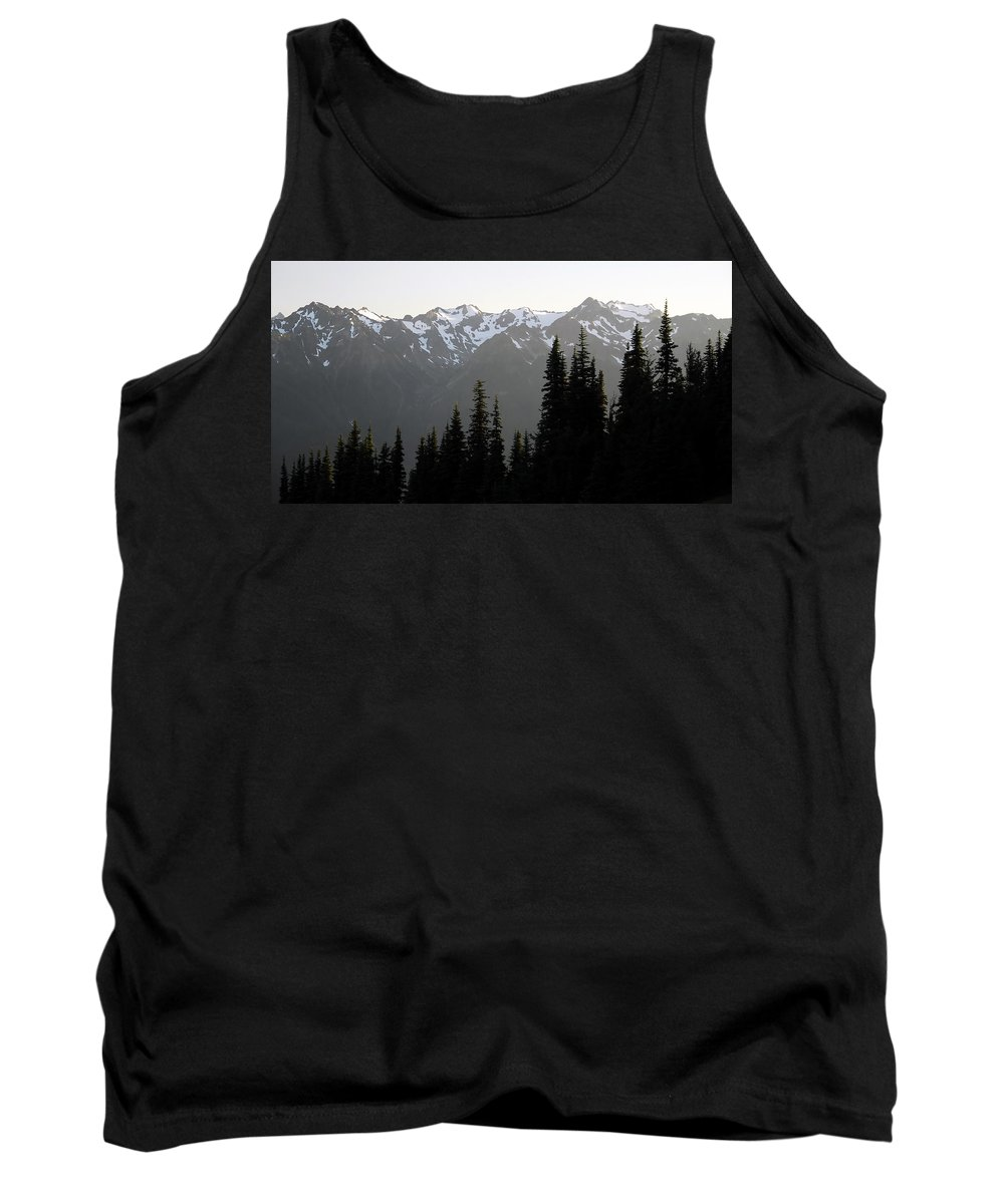 Fine Art Photography Tank Top featuring the photograph Olympic Mountains by David Lee Thompson