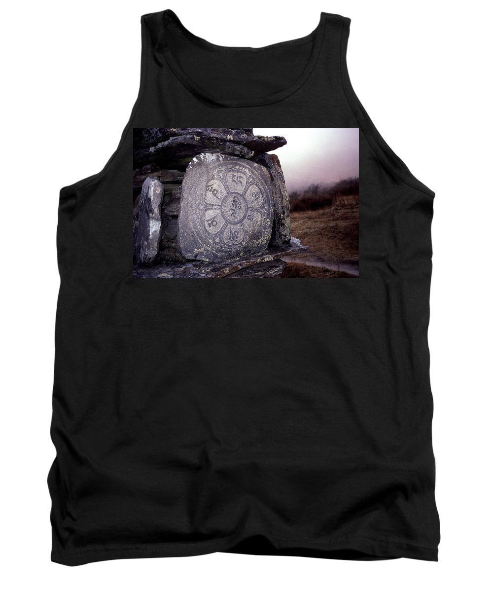 Langtang Tank Top featuring the photograph Om Mani Padme Hum by Patrick Klauss