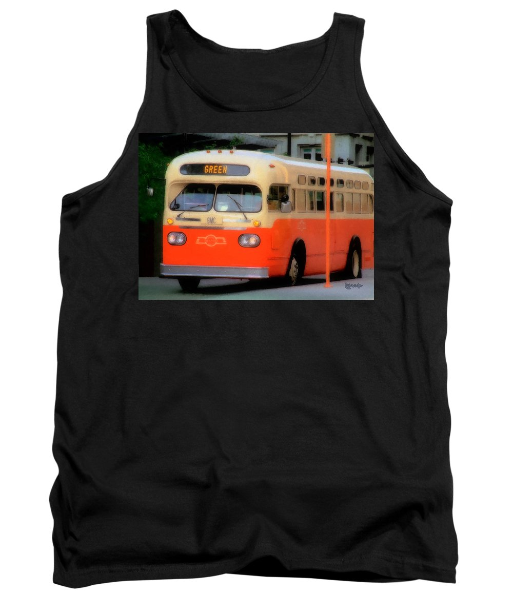 Bus Tank Top featuring the digital art Omaha Retro by RC DeWinter
