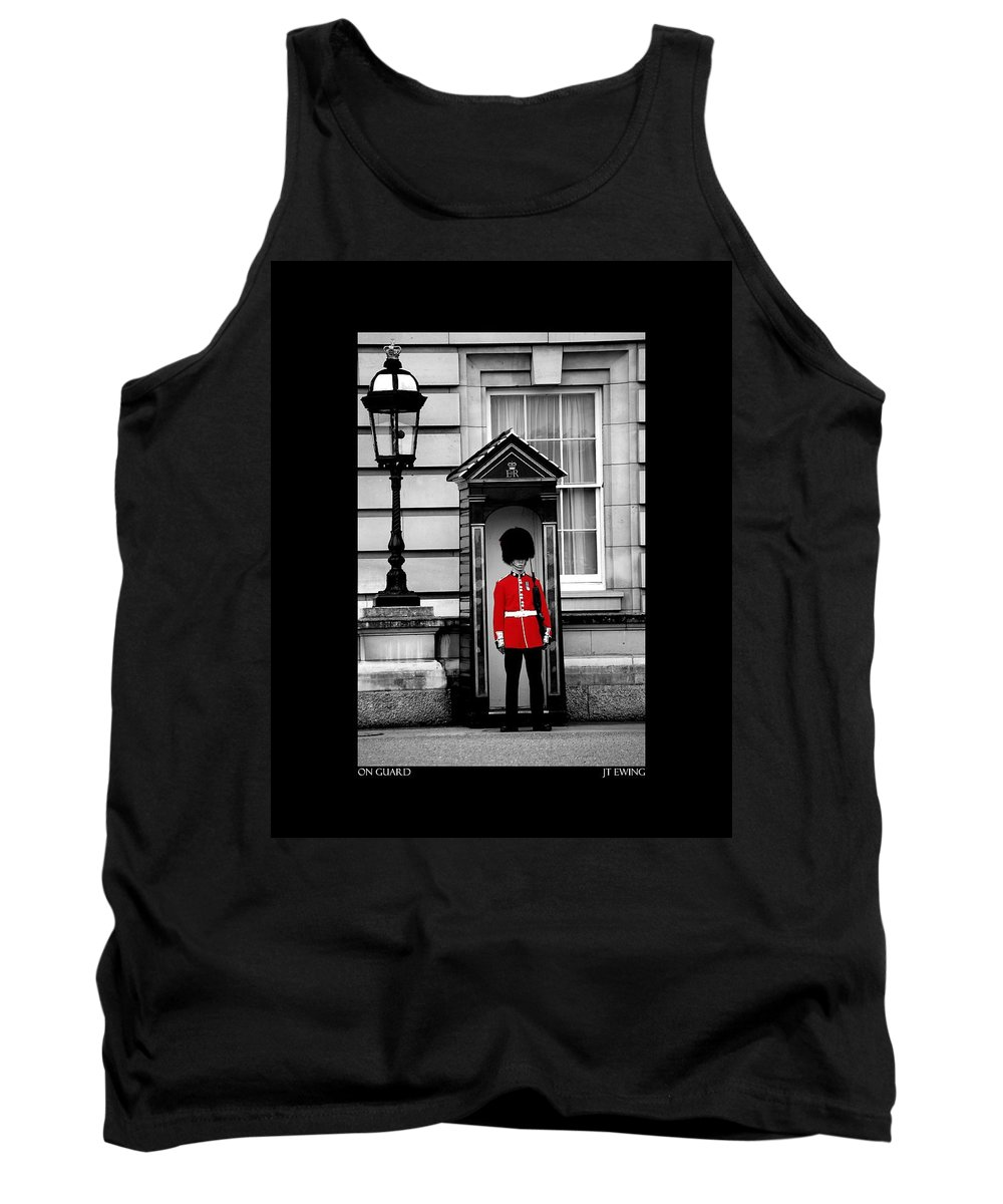 London Tank Top featuring the photograph On Guard by J Todd