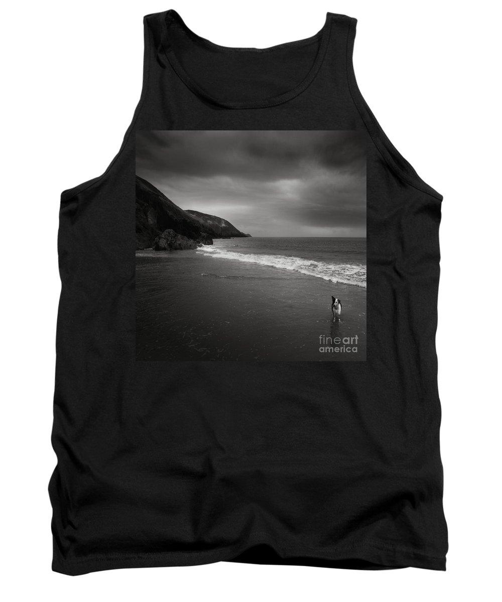 Beach Tank Top featuring the photograph On The Beach by Angel Tarantella