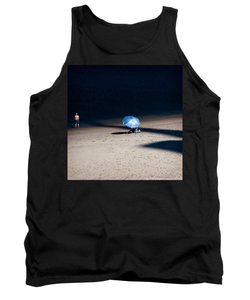 Beach Tank Top featuring the photograph On The Beach by Dave Bowman