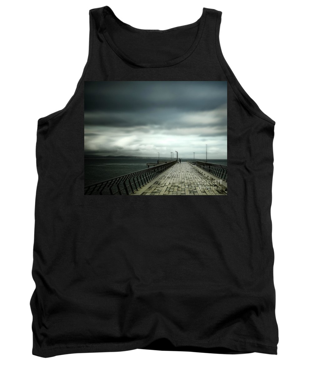 Pier Tank Top featuring the photograph On The Pier by Perry Webster