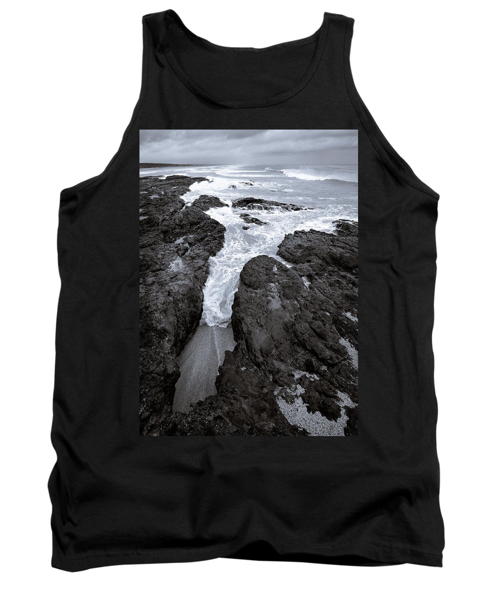 New Zealand Tank Top featuring the photograph On The Rocks by Dave Bowman