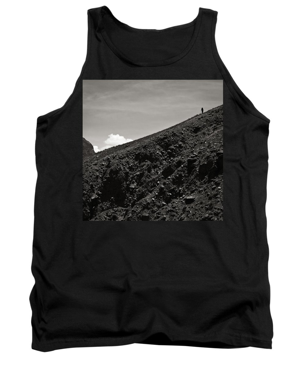 Alone Tank Top featuring the photograph On The Slope by Konstantin Dikovsky