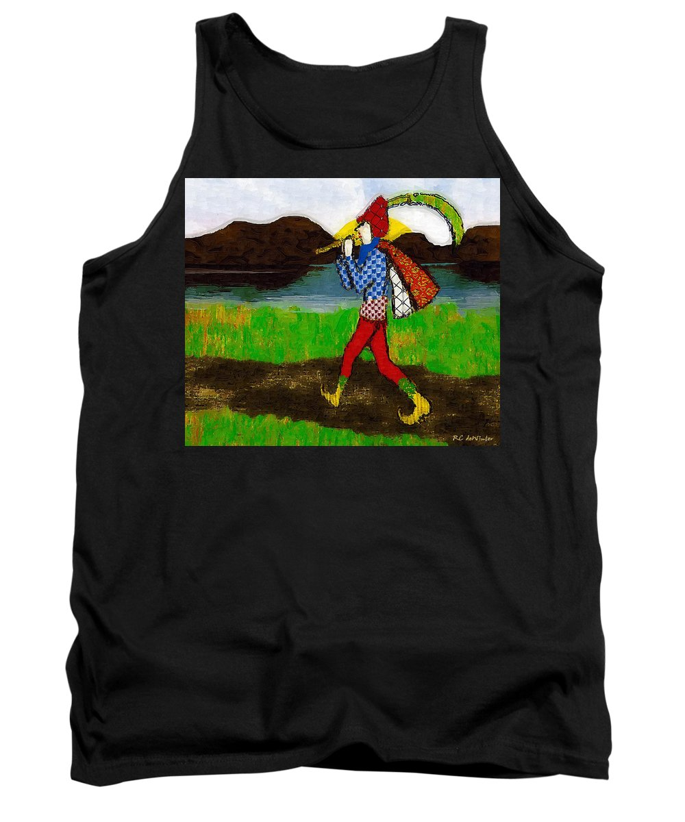Fairy Tale Tank Top featuring the painting On The Way To Hamelin Town by RC DeWinter