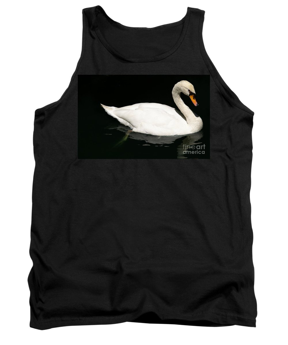 Swan Tank Top featuring the photograph Once Upon Reflection by Linda Shafer