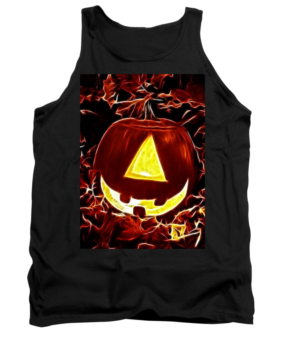 Halloween Tank Top featuring the mixed media One Eyed Jack by Gravityx9 Designs