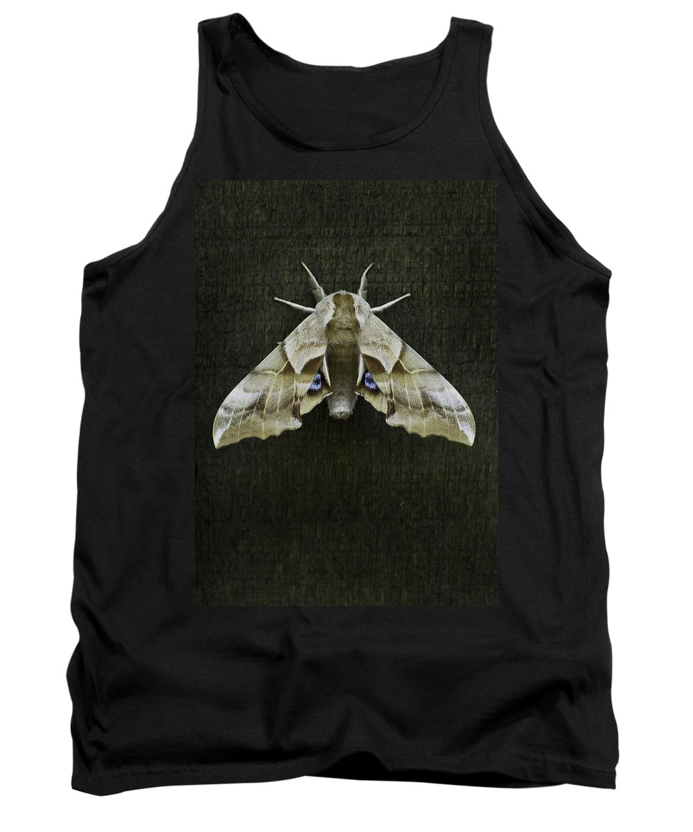 Moth Tank Top featuring the photograph One Eyed Sphinx Moth by Herman Robert