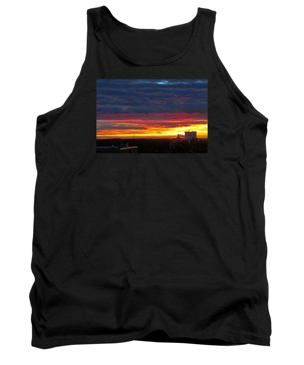 Sunrise Tank Top featuring the photograph One Of The Prettiest Sunrises by Carolyn Fletcher