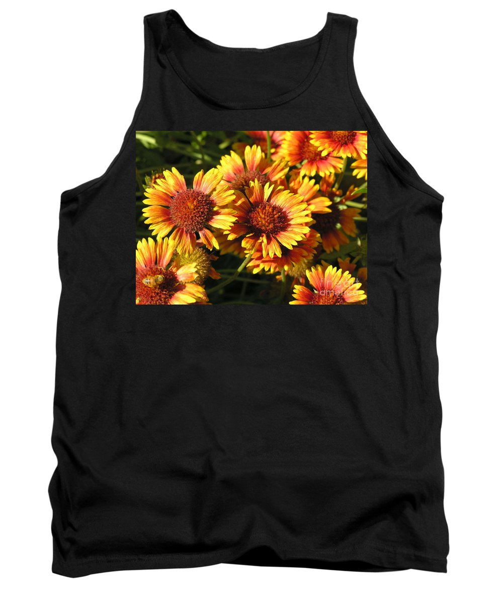 Orange Tank Top featuring the photograph Orange And Gold by Diane Greco-Lesser