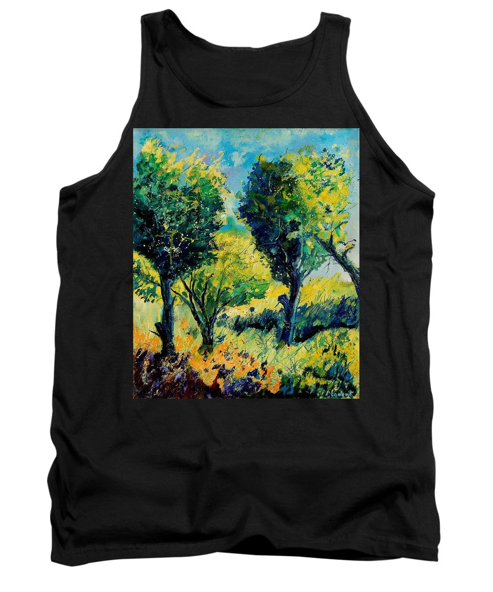 Tree Tank Top featuring the painting Orchard 562 by Pol Ledent