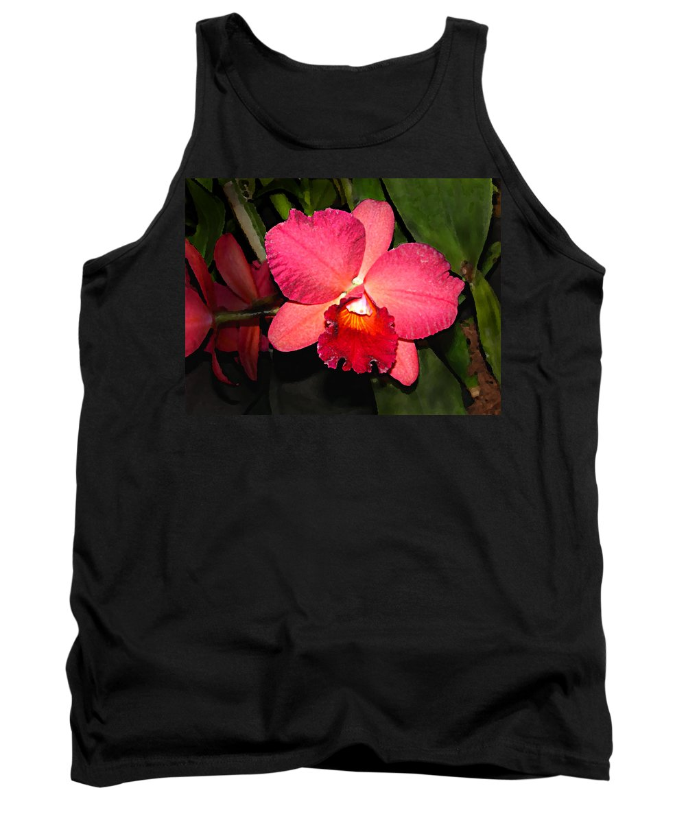 Digital Painting And Photography Tank Top featuring the photograph Orchid by Steve Karol