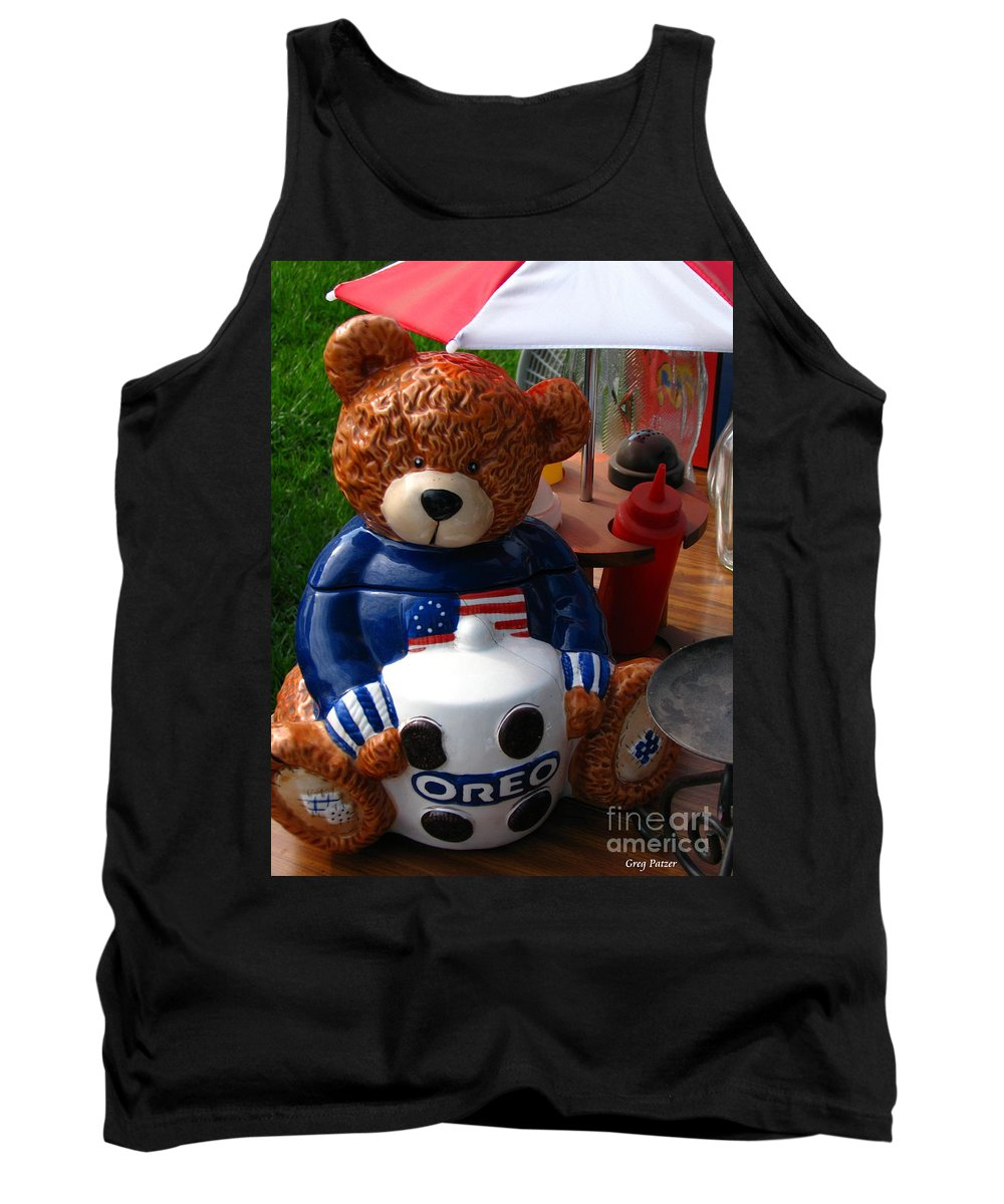 Patzer Tank Top featuring the photograph Oreo by Greg Patzer
