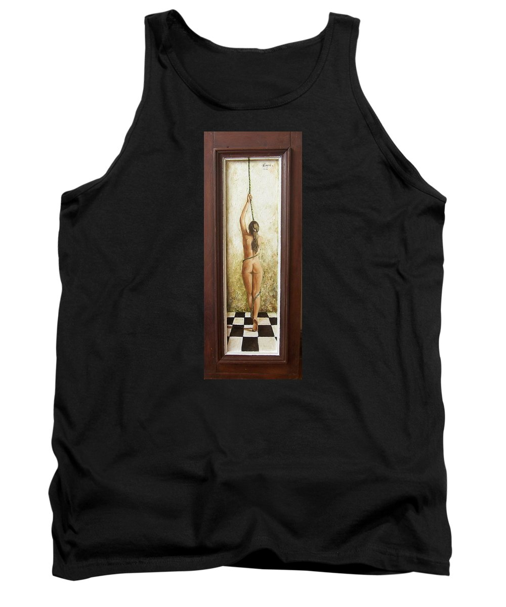 Figurative Tank Top featuring the painting Out Of Chess by Natalia Tejera