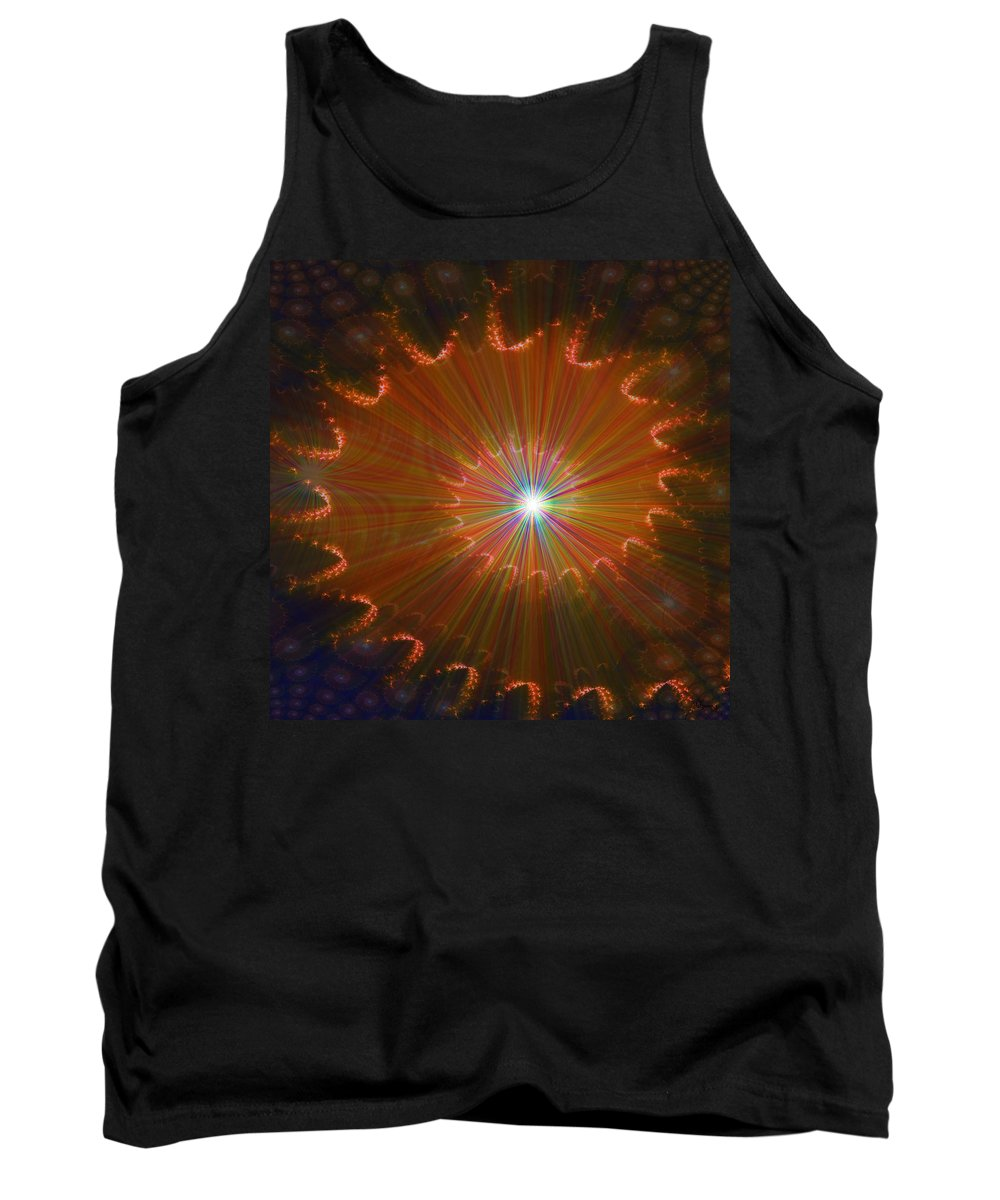 Super Nova Stars Another World Universe Abstract Spectrum Colorful Tank Top featuring the digital art Out Of Control by Andrea Lawrence